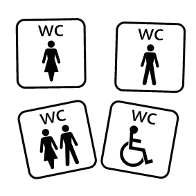 Toiletskilte - Pictogram